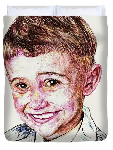 Young Boy Duvet Cover by PainterArtist FIN