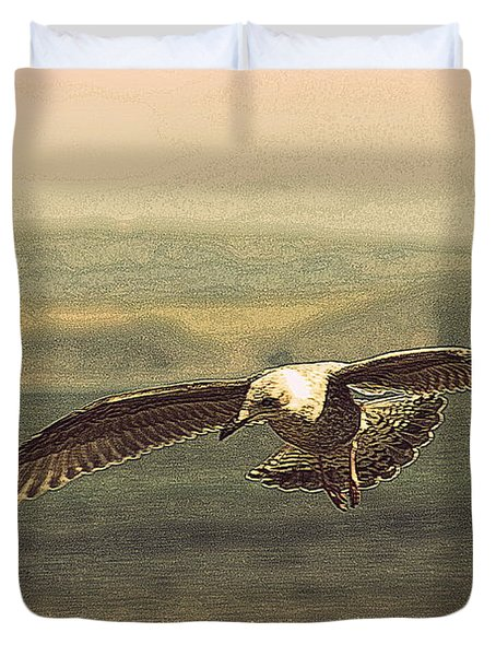 Young Gull Duvet Cover by Linsey Williams