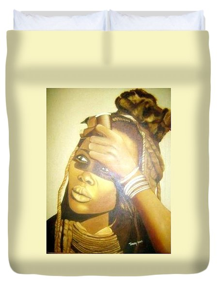 Young Himba Girl - Original Artwork Duvet Cover