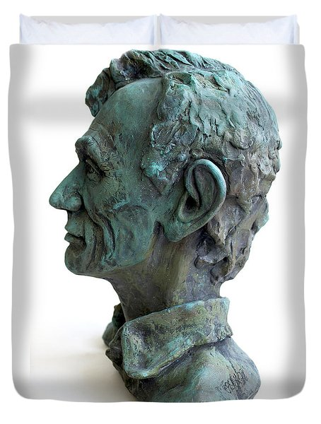 Young Lincoln -sculpture Duvet Cover by Derrick Higgins