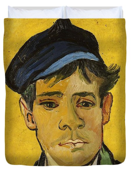 Young Man With A Hat Duvet Cover by Vincent Van Gogh