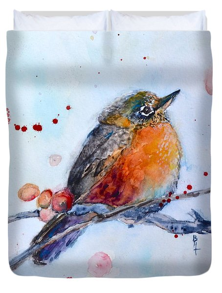 Young Robin Duvet Cover