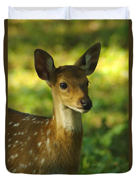 Young Spotted Deer Duvet Cover