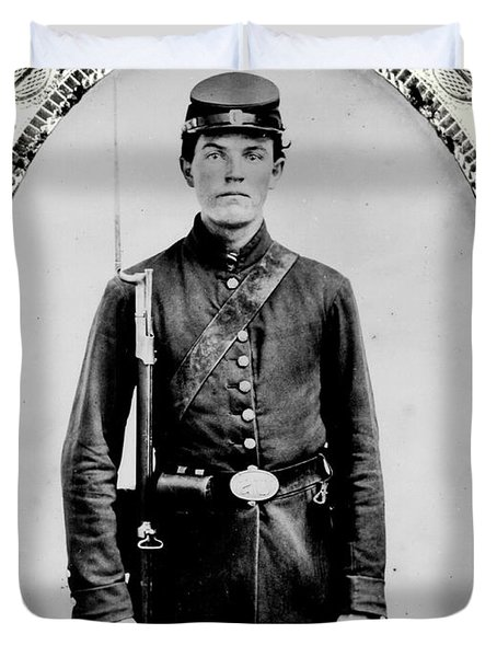 Young Union Soldier Duvet Cover by American School