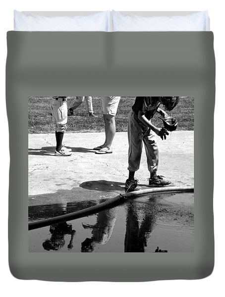 Youth Baseball 1 Duvet Cover by David Gilbert