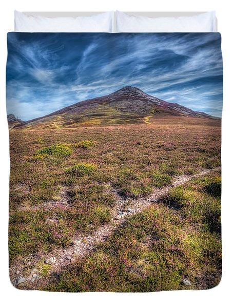 Yr Eifl Trail Duvet Cover by Adrian Evans