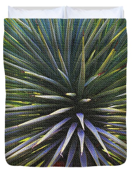 Duvet Cover featuring the photograph Yucca At The Arboretum by Tom Janca