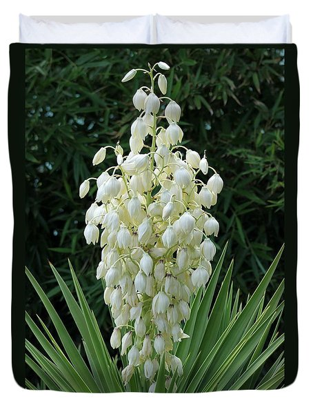 Yucca Blossoms Duvet Cover by Christiane Schulze Art And Photography