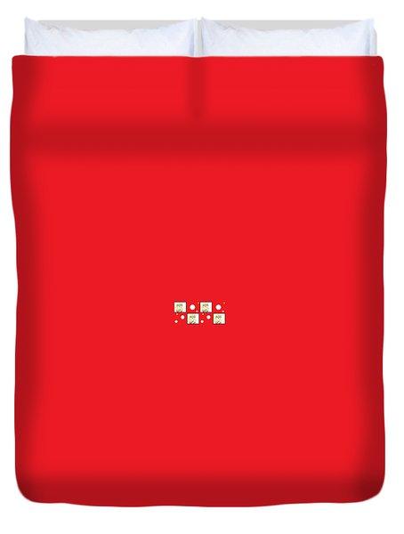 Duvet Cover featuring the digital art Yuk by Ann Calvo