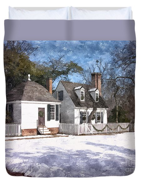 Yule Cottage Duvet Cover