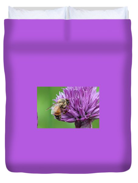 Yummm Chive Nectar Duvet Cover