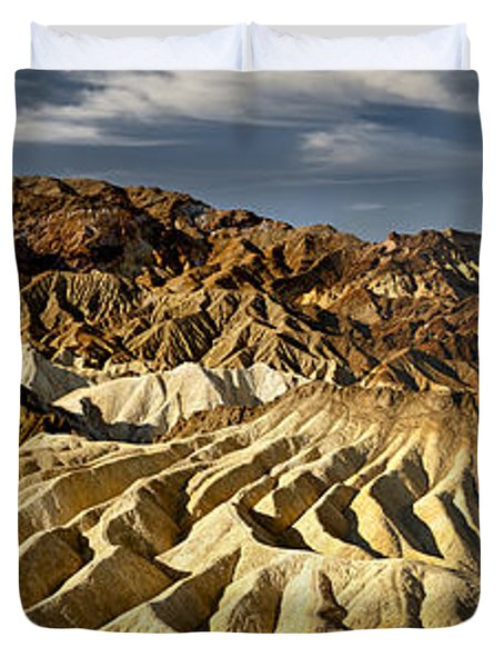 Zabriskie Point Panorama Duvet Cover by Eduard Moldoveanu