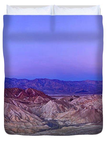 Zabriskie Sunrise Panorama - Death Valley National Park. Duvet Cover
