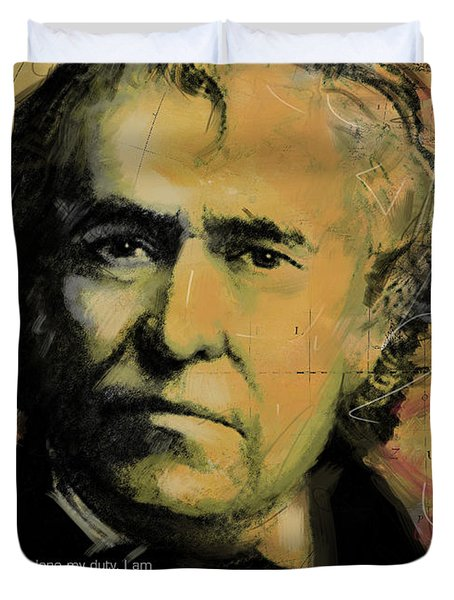 Zachary Taylor Duvet Cover by Corporate Art Task Force