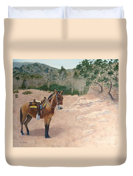 Zachary The Mule Duvet Cover