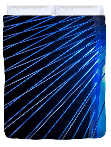 Zakim In Blue - Boston Duvet Cover by Joann Vitali