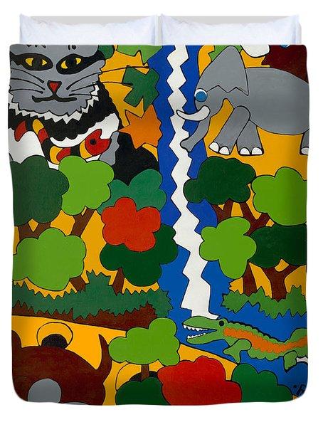 Zane Grey In Africa Duvet Cover