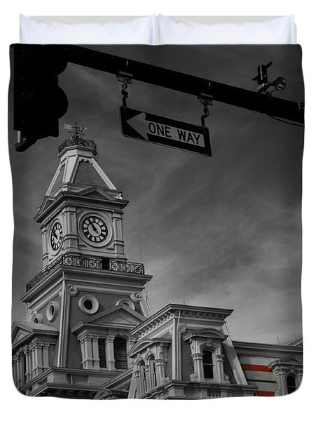 Zanesville Oh Courthouse Duvet Cover