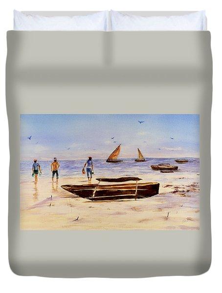 Zanzibar Forzani Beach Duvet Cover