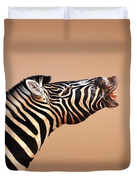 Zebra Calling Duvet Cover