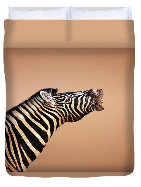 Zebra Calling Duvet Cover by Johan Swanepoel