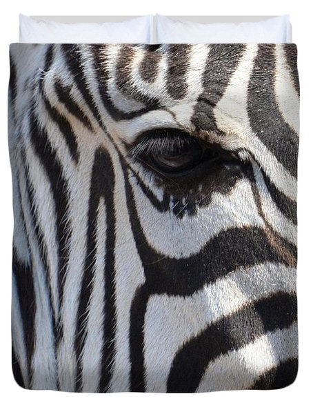 Zebra Eye Abstract Duvet Cover by Maria Urso