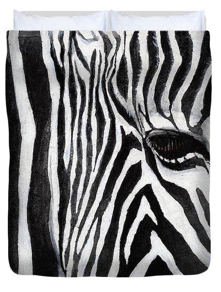Zebra Eye Duvet Cover