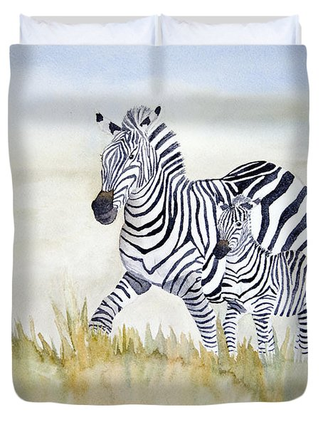 Zebra Family Duvet Cover