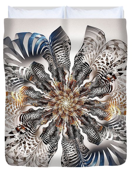 Zebra Flower Duvet Cover by Anastasiya Malakhova