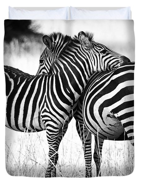 Zebra Love Duvet Cover