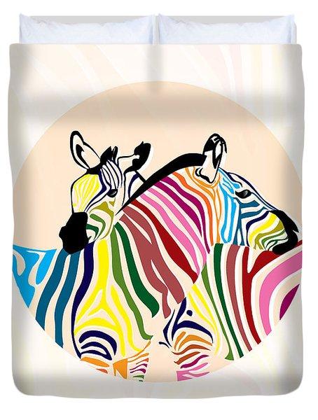 Zebra  Duvet Cover by Mark Ashkenazi