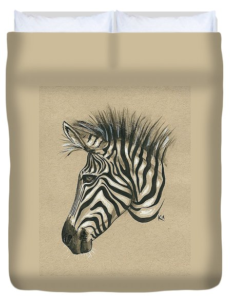 Zebra Profile Duvet Cover