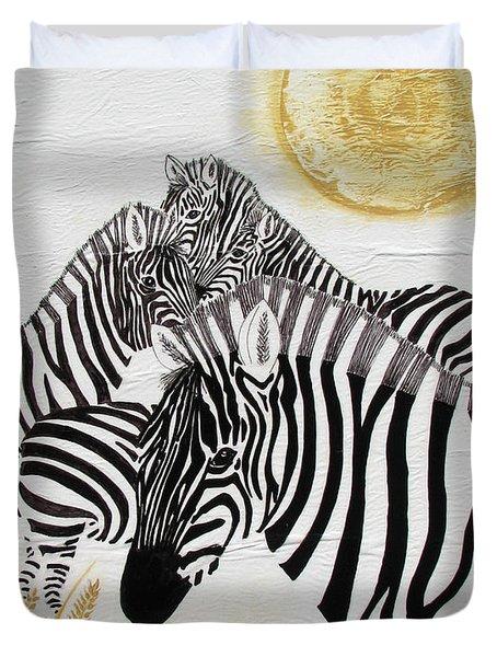 Zebra Quintet Duvet Cover