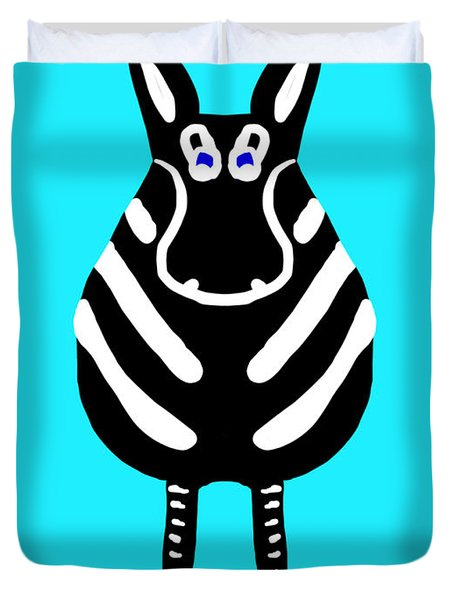 Zebra - The Front View Duvet Cover
