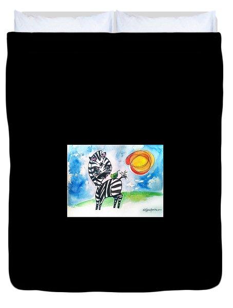 Zebra Zee  Duvet Cover
