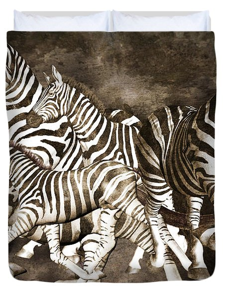 Zebras Duvet Cover