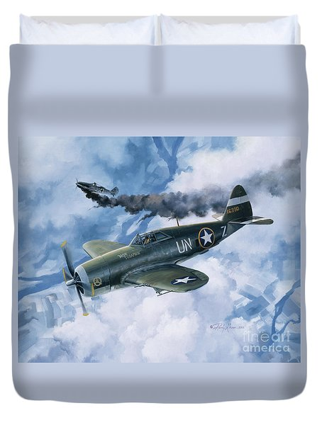 Zemke's Thunder Duvet Cover by Randy Green
