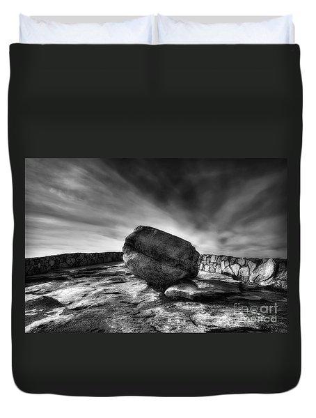 Zen Black White Duvet Cover