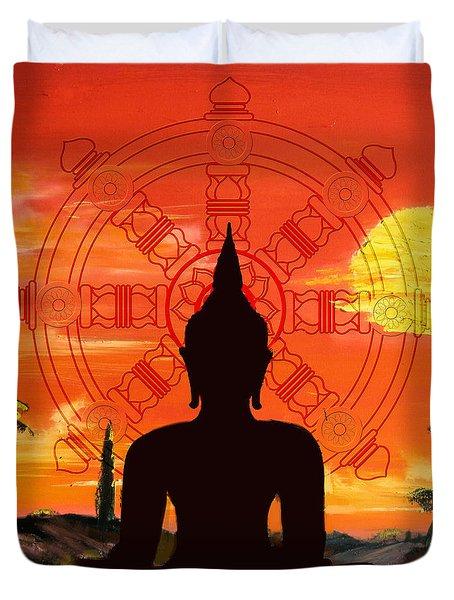 Zen Duvet Cover by Corporate Art Task Force