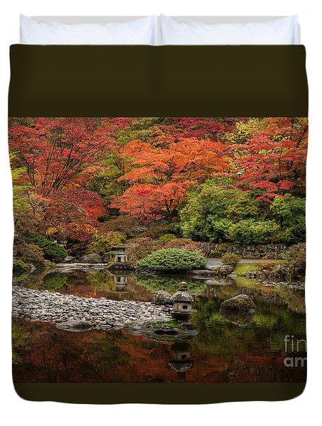 Zen Foliage Colors Duvet Cover by Mike Reid