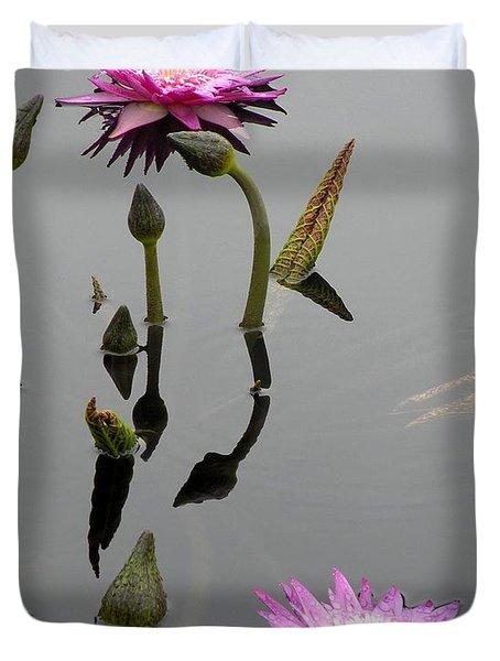 Zen Lilies Duvet Cover