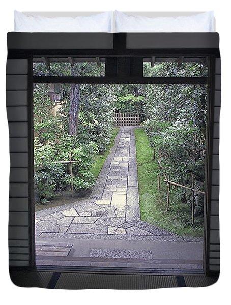 Zen Tea House Dream Duvet Cover by Daniel Hagerman