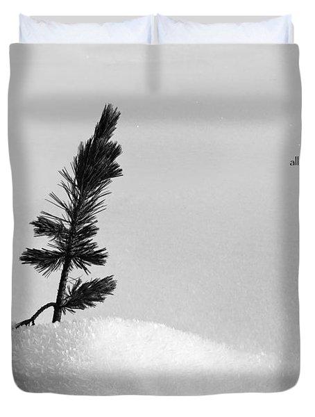 Duvet Cover featuring the photograph Zen Wisdom Stillness by Peter v Quenter