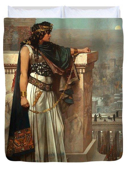 Zenobia's Last Look On Palmyra Duvet Cover by Mountain Dreams