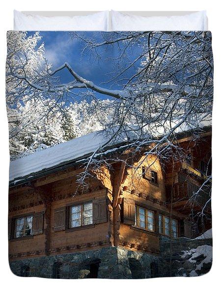 Zermatt Chalet Duvet Cover by Brian Jannsen
