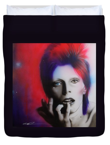 David Bowie - ' Ziggy Stardust ' Duvet Cover