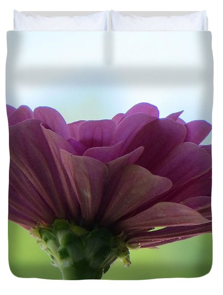 Zinnia Dream Duvet Cover by Sonali Gangane