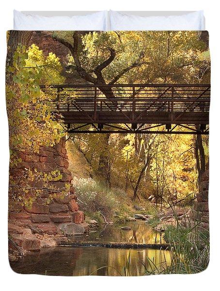 Zion Bridge Duvet Cover by Adam Romanowicz