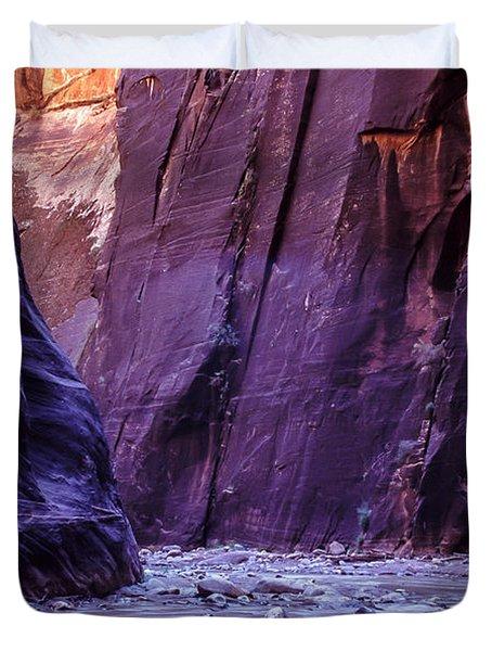 Zion Narrows Duvet Cover