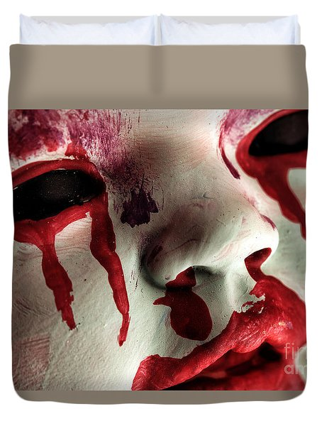 Duvet Cover featuring the photograph Zombie Baby by John Rizzuto
